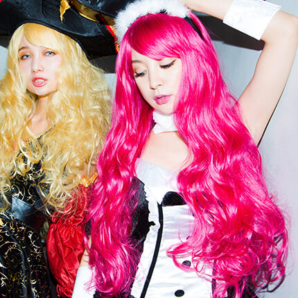 bunny×Party Color ロングウェイブのモデル写真